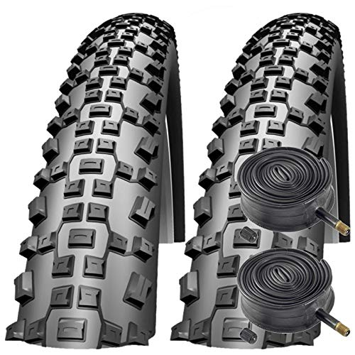 Schwalbe Impac Ridgepac 26' x 2.25 Mountain Bike Tyres with Schrader Tubes (Pair)