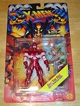 ERIC THE RED * Super Metallic Armor * 1995 Marvel Comics X-Men Invasion Series Action Figure & Marvel Universe Trading Card