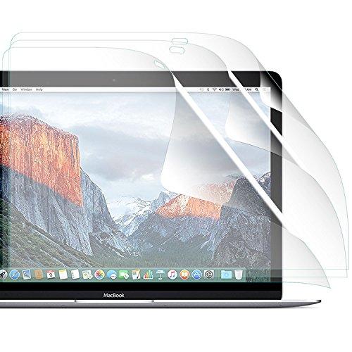 zanasta [3 Stück] Bildschirmschutzfolie kristallklar für Apple MacBook Retina 12