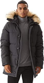 Mens Winter Jacket Thickened Waterproof Quilted Hooded...