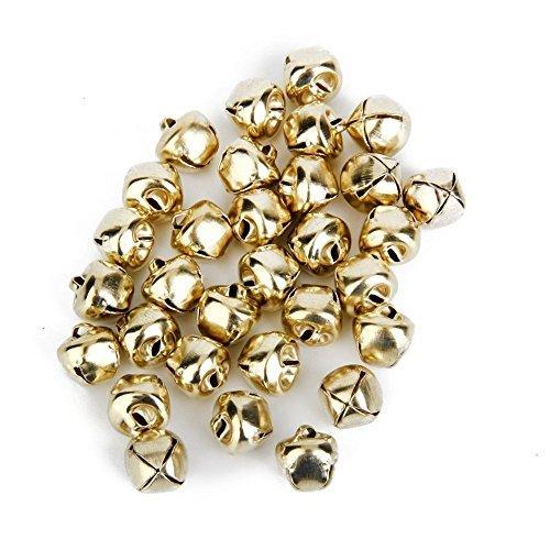 Simplefirst Metal Jingle Bells Craft Bells for Christmas Decoration Jewellery Making Craft 10mm (100pcs Golden)
