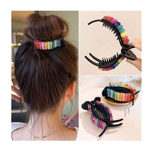 Fashion Rainbow Bangs Hair Clips...
