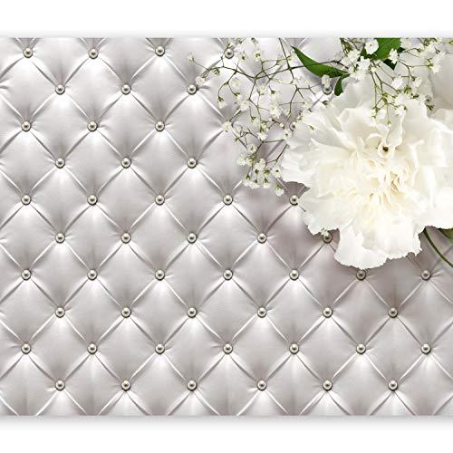 murando – Papier peint intissé 400x280 cm - Papier peint – Trompe l oeil – Tableaux muraux déco XXL – Fleurs Abstrait Abstraction Cuir f-C-0134-a-a