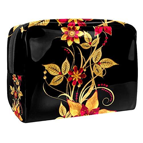 Bolsa de maquillaje portátil con cremallera bolsa de aseo de viaje para mujeres práctico almacenamiento cosmético bolsa 3D renderizado