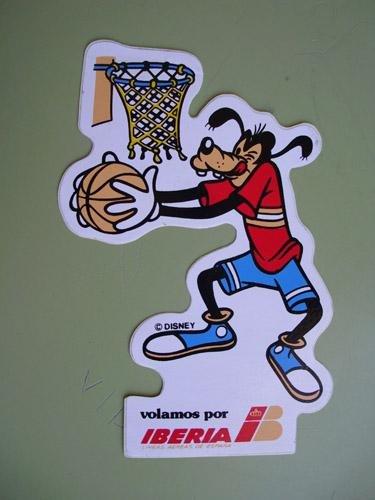 Pegatina Adhesivo Publicidad - Advertising Bumper Sticker : IBERIA - Goofy jugando...