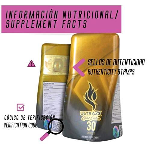 ULTRA-ZX GOLD,Quemador de grasa para hombres y mujeres. Ayuda a la pérdida de peso y controlar la ansiedad. Sin necesidad de dietas. 30 Pastillas adelgazantes. 100% NATURAL.