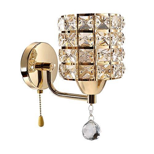 RUINAIER Iluminación de Pared Ligera para Sala de Estar. Lámpara de Pared cristalina Moderna de Metal Decorativo Colgante, Material Cristal (Colgante), lámpara de Pared for el d