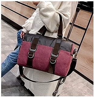 LAGNZ014H Travel Bags Soft Nylon Cloth Shoulder Bag Sports Gym Travel Handbag (Black)