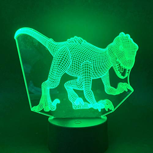 Led Night Light Lamp World Room Color Changing with Remote Tyrannosaurus Artistic Best Present for Kids3D Lamp