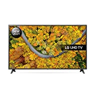 LG 43UP75006LF 43 inch 4K UHD HDR Smart LED TV (2021 Model) with Freeview Play, Prime Video, Netflix...