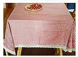 Morbuy Manteles Antimanchas, Mantel Rectangular de Antimanchas Algodón Multicolor Vintage Decoración (100 * 140, Rojo)