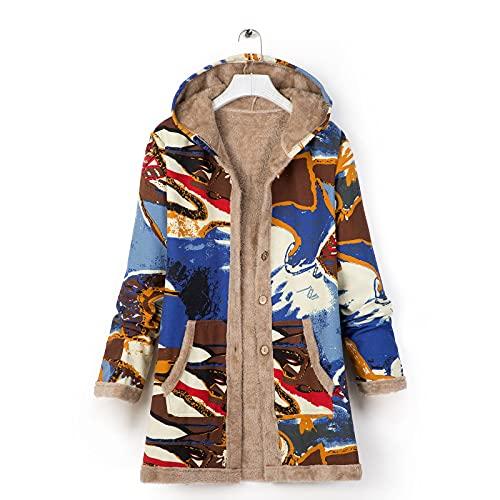 Pianshanzi Parka d'hiver pour femme - Grande taille - Doublée - Veste d'hiver - Manteau en peluche - Veste à capuche en polaire - Veste demi-saison, Bleu3., M