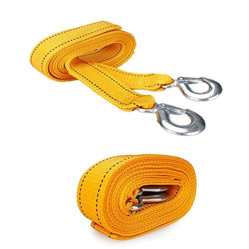 Cuerda de remolque de alta resistencia, polipropileno y acero, capacidad de carga fuerte, 4 m, no fácil de desacoplar, utilizada for anclaje de vehículos, rescate de carretera, mercancías, cuerda de r