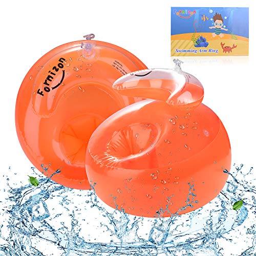 FORMIZON Kinder Schwimmflügel für Anfänger, PVC Schwimmhilfe für Kleinkinder und Babys, Schwimmring Schwimmreifen Armumfang 21-23cm, Empfohlenes Gewicht 6-20kg für Kinder von 1-4 Jahre