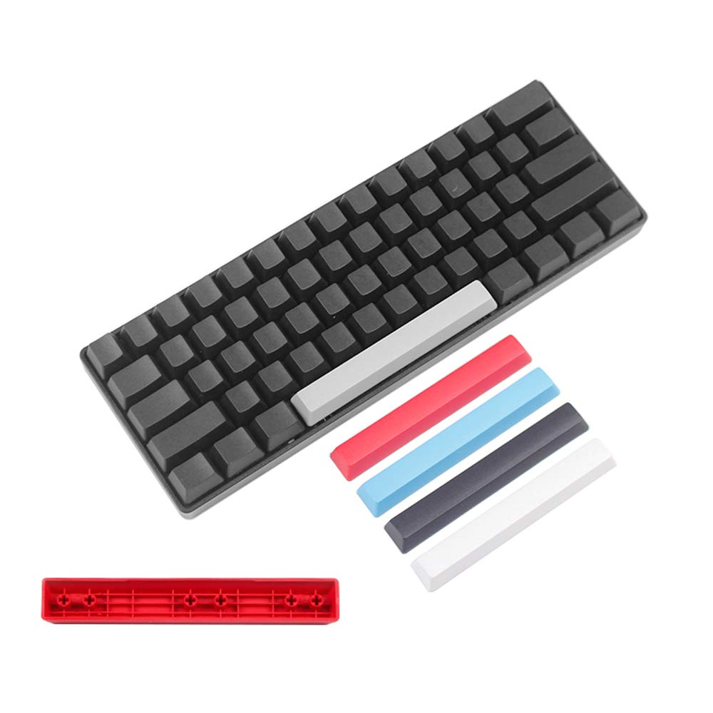 LANGYINH Space Key Cap,Mechanical Keyboard keycap,PBT Material Thick Key Cap,6.25U,118mm ,White Blue Black Pink White Gray Red