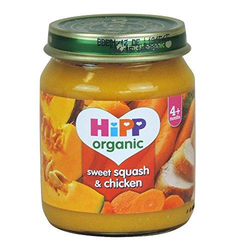 HiPP Organic Sweet Squash & Chicken 4+ Months 125g
