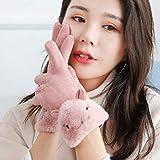 手袋 レディース ボア スエードグローブ 裏起毛 スマホ手袋 防寒対策 ふわふわ 暖かい 上品 ピンク 可愛い 冬物 クリスマスギフト プレゼント 贈り物