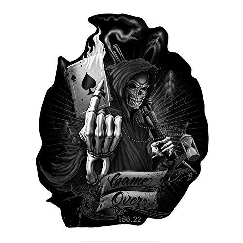 Tehui Lustige Autoaufkleber Kito Ghost Rider EIN Spiel endet Pik Spielkarte Schädel-Autoaufkleber
