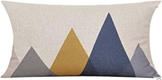 QINU KEONU Elephant Deer Mountains Cotton Linen Throw Pillow Case Cushion Cover Home Sofa Decorative (7)