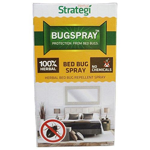 Herbal Strategi – BugSpray Bed Bug Repellent | Room Spray | Completely Herbal | Bed Bug Repellent Spray | Made with Lemongrass, Cedarwood & Neem| Eco-friendly & Biodegradable | Irritant-Free, Chemical-Free |Baby-Safe, Skin-Safe, Plant-Safe | 100mL