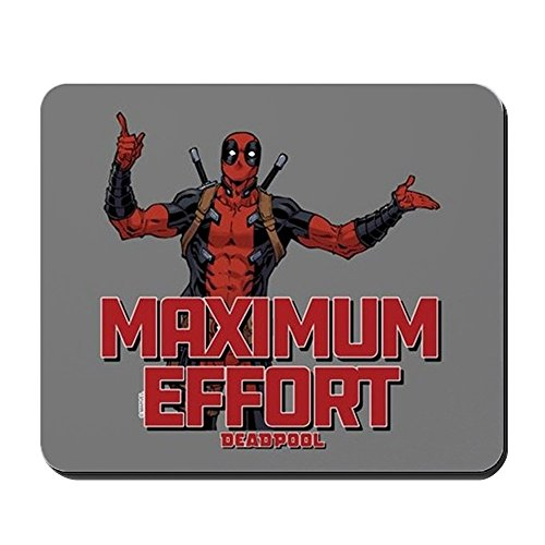 CafePress Deadpool Maximum Effort Non-Slip Rubber Mousepad, Gaming Mouse Pad