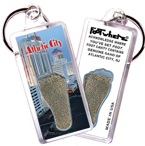 "Atlantic City ""FootWhere"" Souvenir Key Chain. Made in USA (AC104 - Resort)"