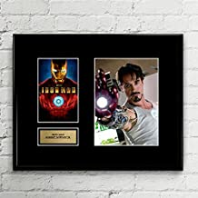 The Avengers Iron Man Robert Downey Jr Signed Autographed Photo Mat Custom Framed 11 x 14 Replica Reprint Rp
