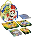 Crayola Art Buddy Pip-Squeak Character Backpack & Art Tools Kit Portable Creativity Kit for Kids in Clear Backpack for Easy Travel, Includes Markers, Stampers, Crayons, Sidewalk Chalk & Drawing Pad