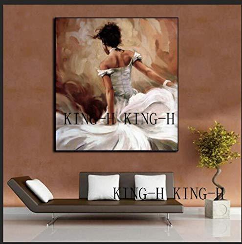 Pintura al óleo Abstracta Pintura al óleo de la Pared de la Mano de la Persona Que representa la Figura de la Danza Moderna Lienzo de Pintura al óleo para el Arte del Adorno de la Sala de Estar e