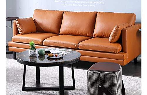 XINTONGSPP Estilo Italiano sofá de Cuero, Cuero del sofá de la Sala/Diseño Retro Sofá, Sofá del Ocio/Apartamento Sofá, Brown