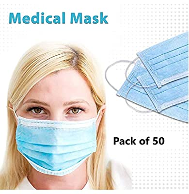 50 pieces Medical Mask 4 Ply layers breathable. Ship Fast from USA