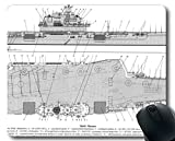 Yanteng Mauspads, Flugzeugträger Russischer Flugzeugträger Admiral Kuznetsov Warship Gaming-Mauspad Multi YT51