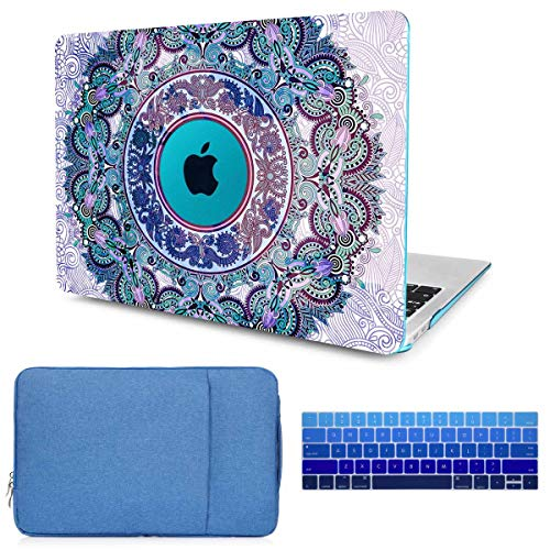 CiSoo MacBook Pro 15 Inch Case 2019 2018 2017 2016 Mandala Laptop Hard Shell Case for Model Number A1707/A1990, Keyboard Cover, Sleeve,Protective Bag,Compatible with MacBook Pro 15'' with Touch Bar