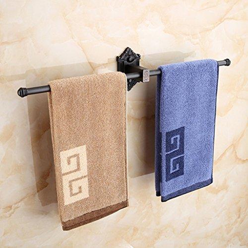 Barre à serviette simple en cuivre simple en bronze/salle de bains