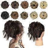 FESHFEN Chouchou Chignons Postiche Extensions de Cheveux Ondulés Bande élastique Chignon instantané queue de cheval pour femme