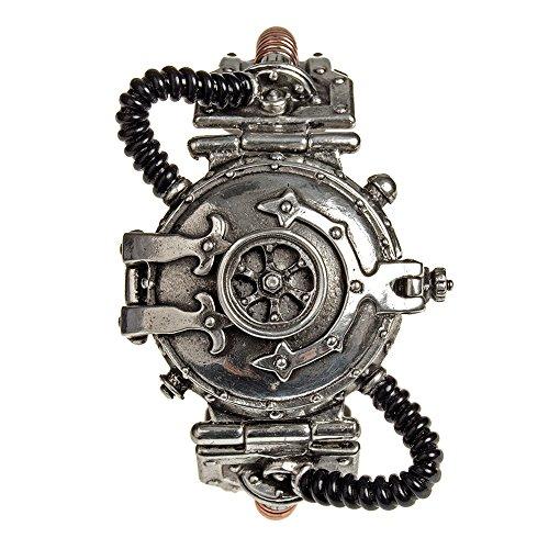 Armbanduhr Alchemy Gothic Dampfbetriebener Entropie Kalibrator aus Zinn und Messing Einheitsgröße Steampunk Uhr - Einheitsgröße