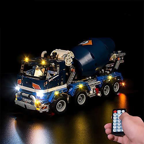 LODIY Beleuchtung Licht LED Beleuchtungsset mit Soundeffekte Fernbedienung für Lego 42112 Technic Betonmischer-LKW (Nicht Enthalten Lego Modell)