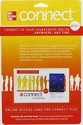 Connect 1-Semester Access Card for Essentials of Advanced Financial Accounting