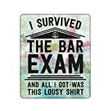 Survived Bar Exam Law School Graduation Lawyer Gift Rectangle Mouse Pad Laptop Non-Slip Mouse Pads for Computers 8.3x10.3 in