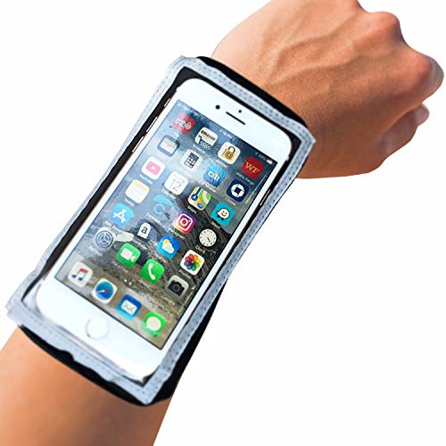 Myband Running Armband Phone Holder - Fits iPhone 11Pro, Xs/X/8/7, Samsung S10/S9, Full Responsive Touch, Night Mode and Zipper Wrist Wallet