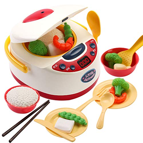 Xuways Toys Spray Rice Cooker Toy Kitchen Pretend Play Accessories Toys Educational Toy for Children Boys and Girls