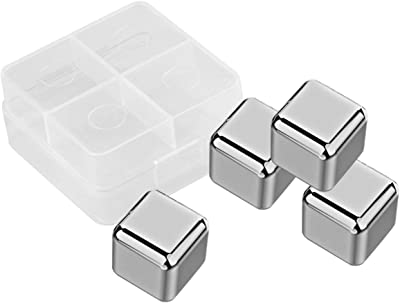 6 PIEZAS Cubitos de hielo de piedra helada cuadrada Cubitos de hielo de piedra helada Piedras m/ás fr/ías 01