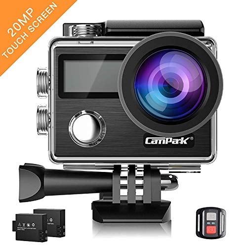Campark Action Cam X20 HD 20MP 4K WiFi Touch Screen Macchina Fotografica Subacquea