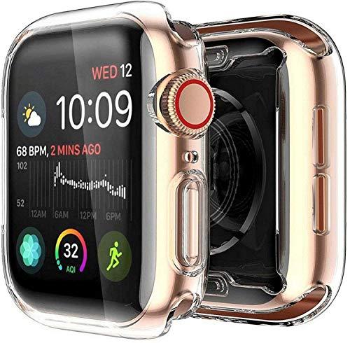 Yolin [2-Stück] All-Around TPU Displayschutz Kompatibel mit Apple Watch Series 6/ SE/Series 5 / Series 4 40mm, Ultradünne Weiche Schutzhülle für iwatch 40mm (2 Transparent)