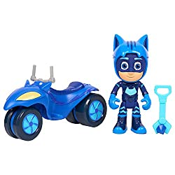 Space Rover features deluxe accents and sleek design Space Rover can fit one PJ Masks 7. 5cm figure Each hero comes with a different lunar accessory: Cat Boy has a crystal, Owlette has a laptop and Gekko comes with a Walkie Talkie accessory