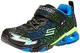 Skechers boys Lighted, Lighs, Lighted, Sport Lighted Sneaker, Black/Blue/Lime, 13 Little Kid US