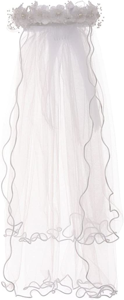 Pearl Rhinestones 4 years warranty Accented Sale price Flower Crown Mesh Communion Vei Tiara