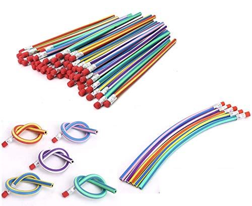 Bleistifte, 30Stück, weich, flexibel und biegsam, magische Stifte für Kinder / Schule, violett, No.1