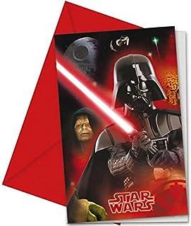 Unieke partij 71967 - Helden en schurken Star Wars Party Uitnodigingen, Pack van 6