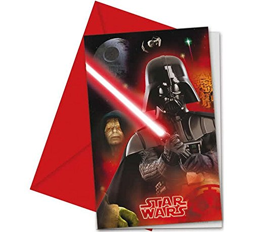 Stars Wars 6 Einladungskarten mit Umschläge Kindergeburtstag
